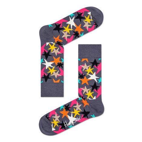 Star Print Socks, ${color}