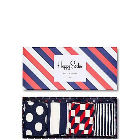 Polka Dot Stripes Gift Box, ${color}