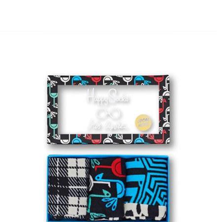3 Pack Iris Apfel Socks, ${color}