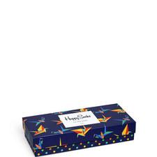 4-Pack Mixed Print Socks