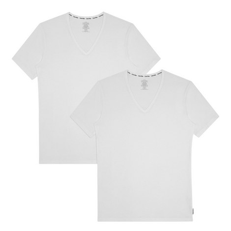 Modern V-Neck Cotton T-Shirt, ${color}