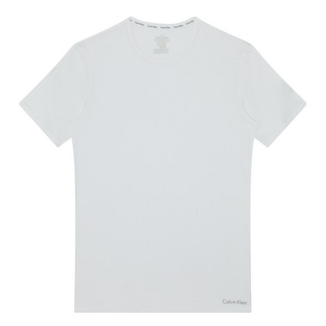 White Cotton Crew Neck T-Shirt, ${color}