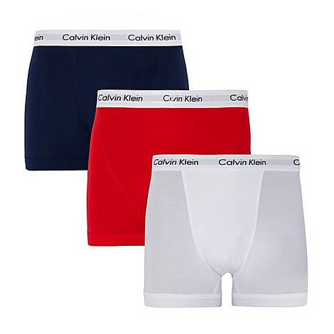 Three Pack Cotton Stretch Trunks, ${color}