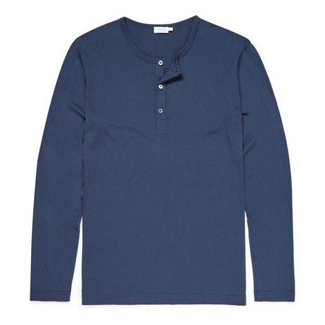 Long Sleeve Henley T-Shirt, ${color}