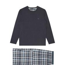 Check Print Jersey Pyjama Set