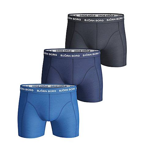 3-Pack Solid Trunks, ${color}