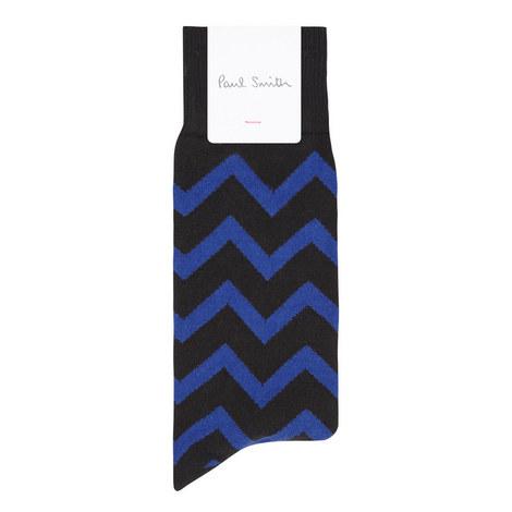 Chevron Pattern Socks, ${color}