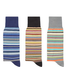 3-Pack Stripe Socks