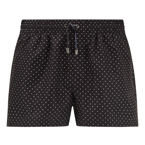 Polka Dot Swim Shorts, ${color}