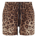 Leopard Print Swim Trunks, ${color}