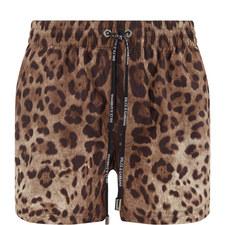 Leopard Print Swim Trunks