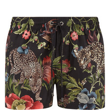 Floral Leopard Swim Trunks