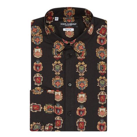Crest Print Shirt, ${color}