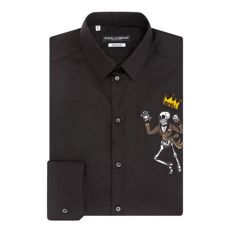 Skeleton Detail Shirt, ${color}