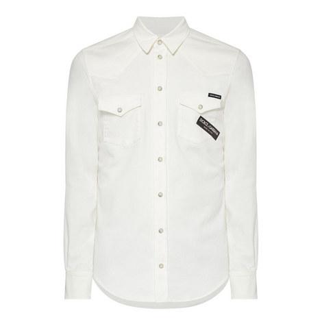 Tape Denim Shirt, ${color}