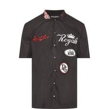 Badge Detail Bowling Shirt
