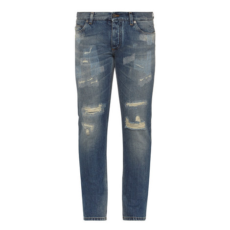 Distressed Gold 14 Fit Jeans, ${color}