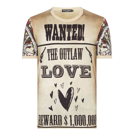 Wanted Print T-Shirt, ${color}