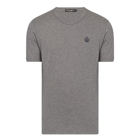 Crown Detail Crew Neck T-Shirt, ${color}
