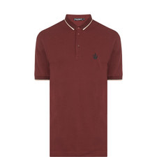 Embroidered Crown Tipped Polo Shirt