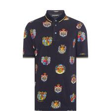 Crest Print Polo Shirt