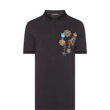 Medal Print Polo Shirt