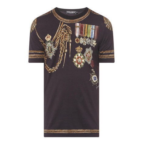 Rope Badge Print T-Shirt, ${color}