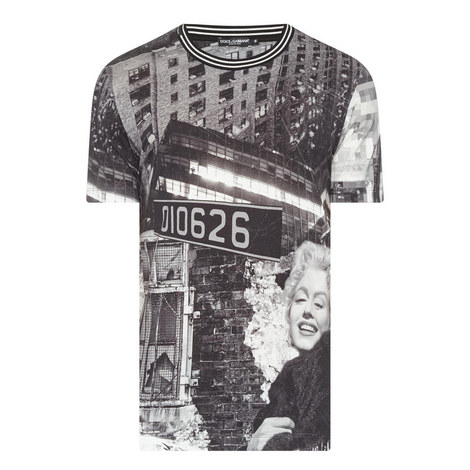 Marilyn Street Sign Print T-Shirt, ${color}
