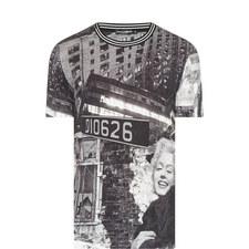 Marilyn Street Sign Print T-Shirt