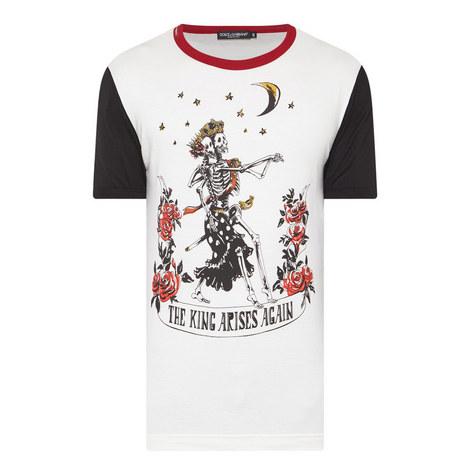Skeleton King Print T-Shirt, ${color}