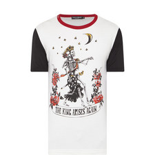 Skeleton King Print T-Shirt