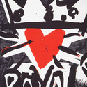 Royal Heart Print T-Shirt, ${color}