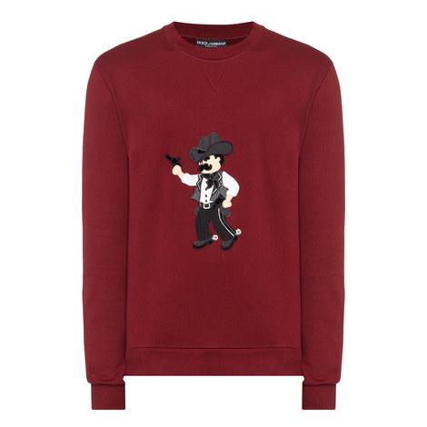 Cowboy Appliqué Sweatshirt, ${color}