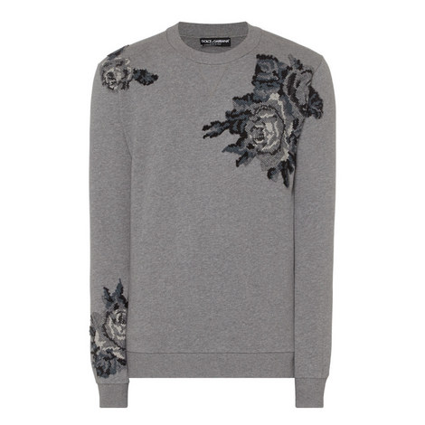 Rose Print Sweatshirt, ${color}