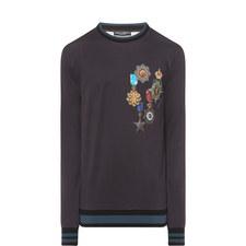 Crest Print Sweater