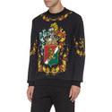 Crest Print Sweatshirt, ${color}