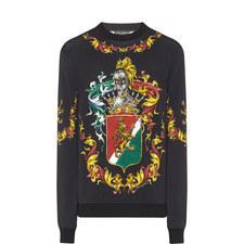 Crest Print Sweatshirt