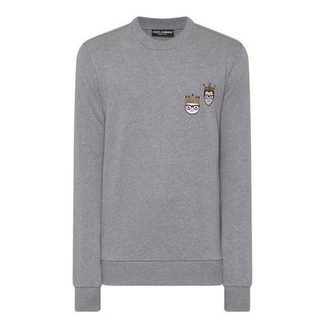 King Designers Crew Neck Sweatshirt, ${color}