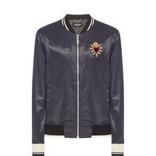 Sacred Heart Satin Bomber Jacket