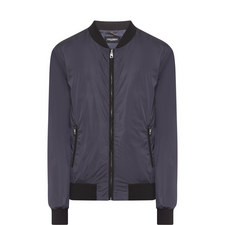 Basic Nylon Bomber Jacket