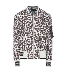 Mixed Print Reversible Bomber Jacket