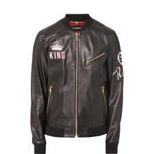 King Leather Bomber Jacket