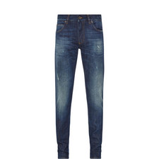 Branded Plaque Slim Jeans