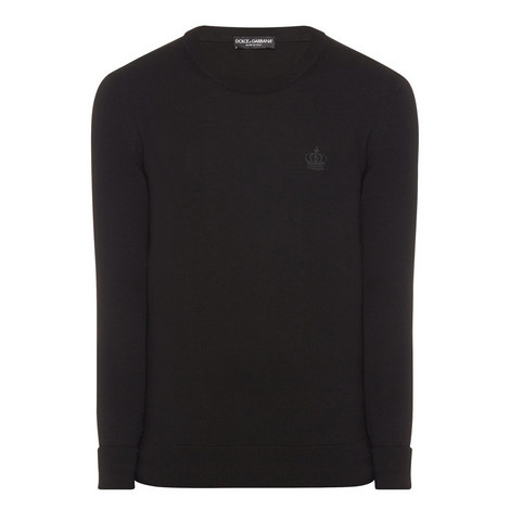 Crown Detail Crew Neck Sweater, ${color}