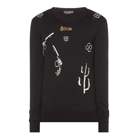 Cashmere Embroidered Sweater, ${color}