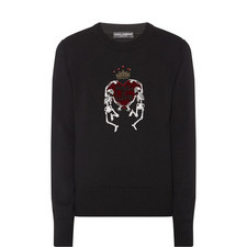 King of Love Skeleton Sweater