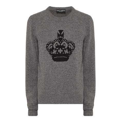 Crown Crew Neck Sweater, ${color}
