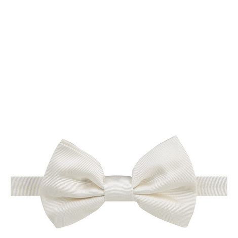 Ribbed Silk Bow Tie, ${color}