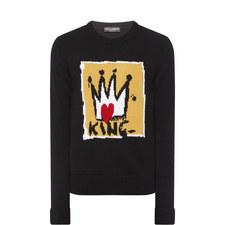King Crown Intarsia Sweater