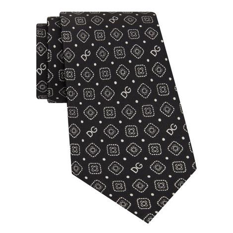 Silk Patterned Tie, ${color}